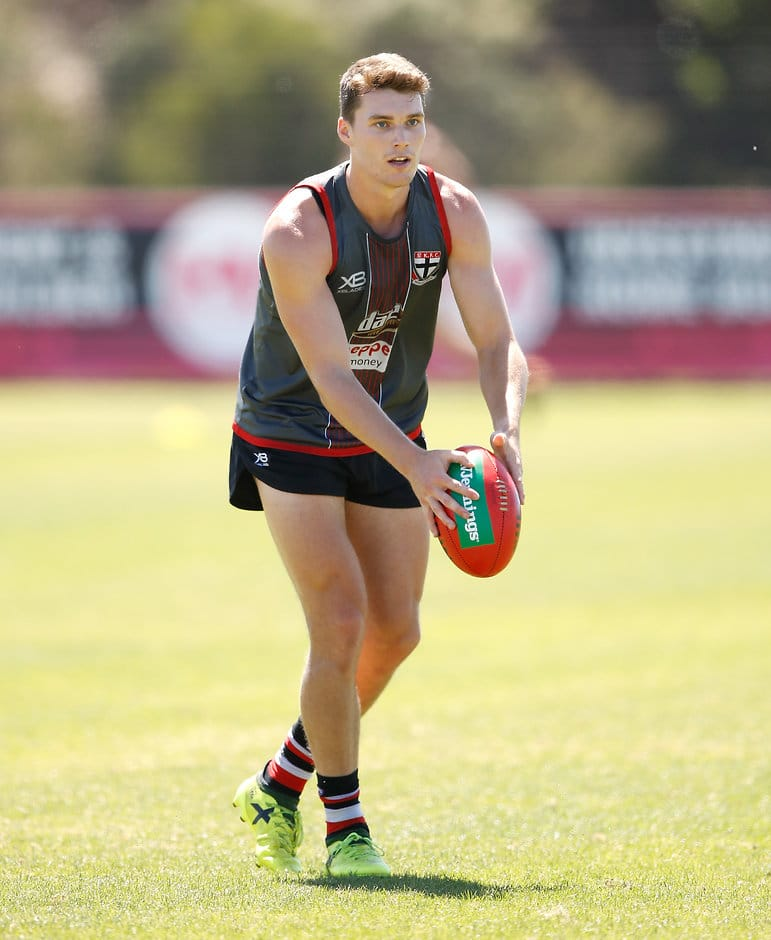 Blake Acres has been working on hitting the dangerous kicks and opening the game up - AFL,St Kilda Saints,Blake Acres