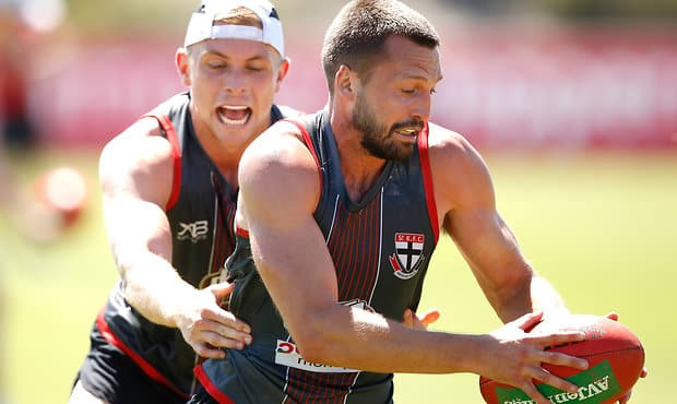 St Kilda Captain Jarryn Geary continues to be the best endurance runner at Linen House Centre.