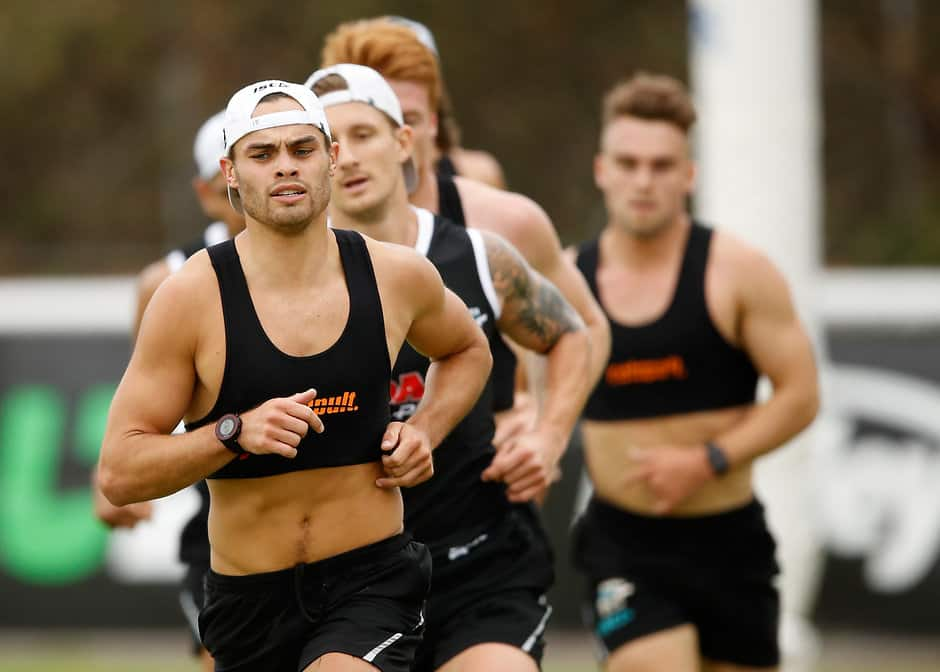 Karl Amon is proving to be Port Adelaide's running man - AFL,Port Adelaide Power,Karl Amon,Jack Trengove,Dom Barry,Travis Boak,Tom Clurey