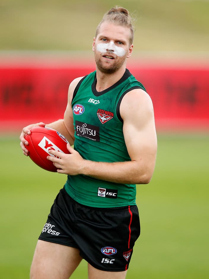 Jake Stringer was forced from the field at Tullamarine on Friday - AFLX,Essendon Bombers,David Zaharakis,Hayden Skipworth,Dyson Heppell,Jake Stringer