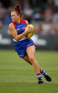 Jenna Bruton has been one of a number of Bulldogs to show plenty of potential so far this season. (Photo: AFL Media) - Western Bulldogs,AFLW