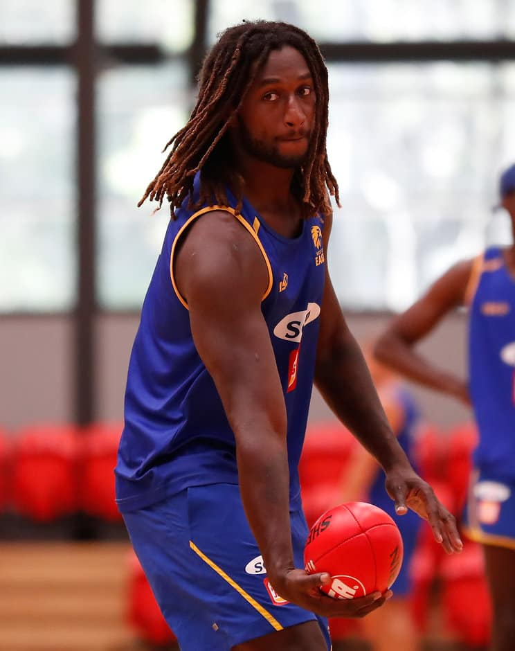 Eagles hope Nic Nat will feature in the JLT - AFL,West Coast Eagles,Injuries,Nic Naitanui,William Rioli,Josh J Kennedy,Liam Duggan,Jack Petruccelle