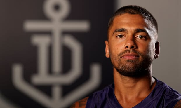 Fremantle midfielder Bradley Hill is awaiting the result of scans after suffering a suspected quad injury. - Bradley Hill,Fremantle,Fremantle Dockers