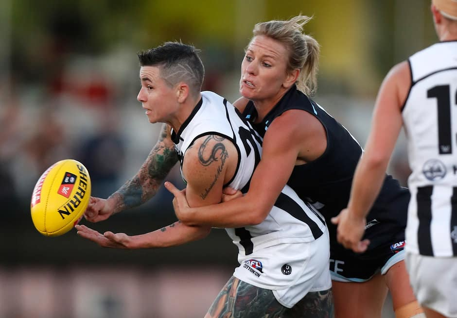 Long-time Blues supporter Katie Loynes finished in a tie for the best and fairest at the club last season - AFLW,Carlton Blues,Katie Loynes