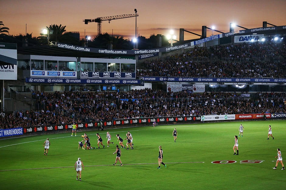 The federal government has pledged customImageCaption5 million to turn Ikon Park into the home of women's football in Victoria - AFL,Ikon Park