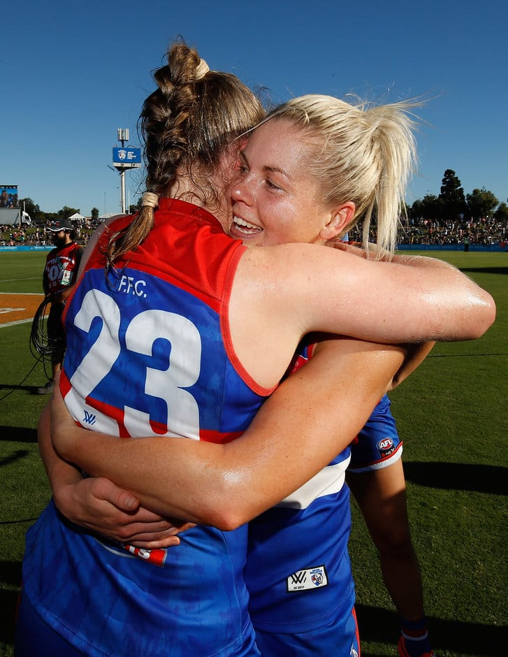 Katie Brennan is well aware of the role she and other AFLW trail blazers are playing in inspiring young girls. (Photo: AFL Media) - Western Bulldogs,AFLW