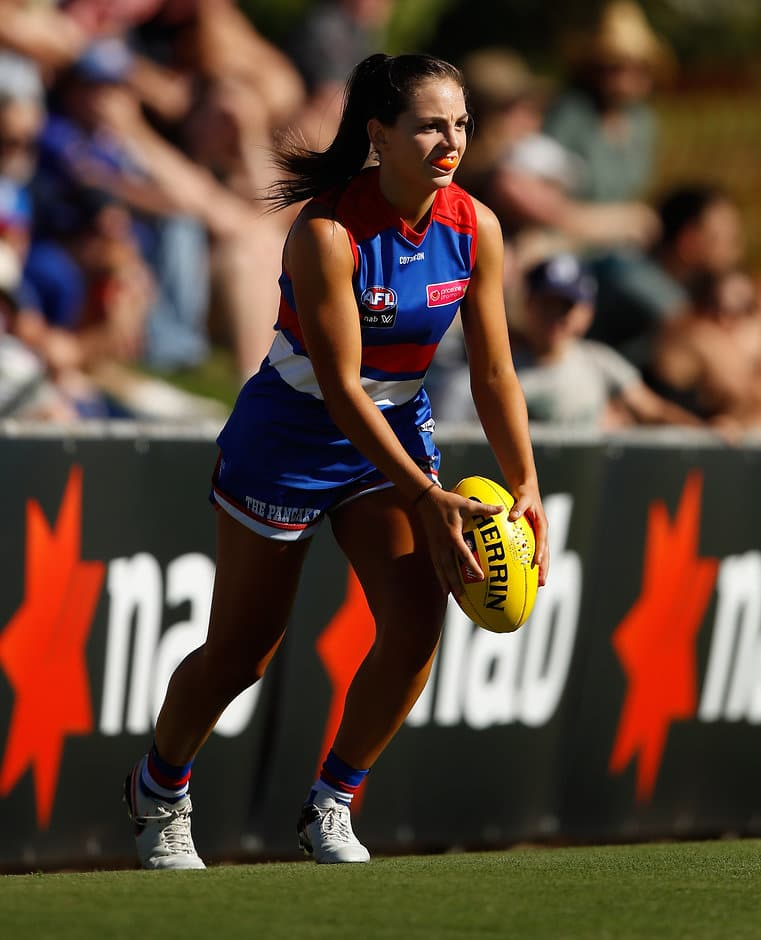 "Disappointment of losing the WNBL Grand Final has Monique Conti ""hungry"" for success. (Photo: AFL Media) - Western Bulldogs,Monique Conti,AFLW"