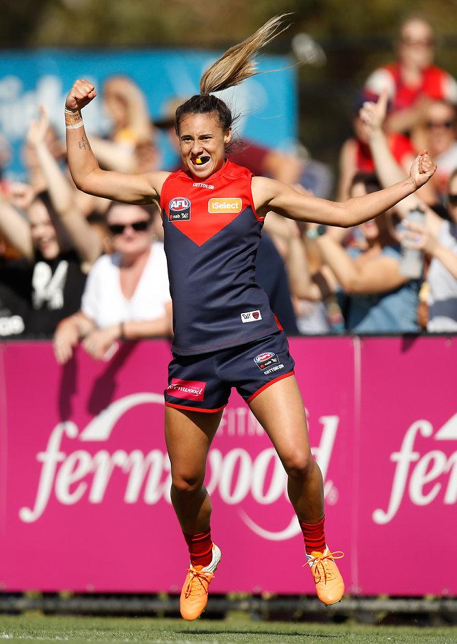 Aliesha Newman had a terrific game - AFLW,Melbourne Demons,Adelaide Crows