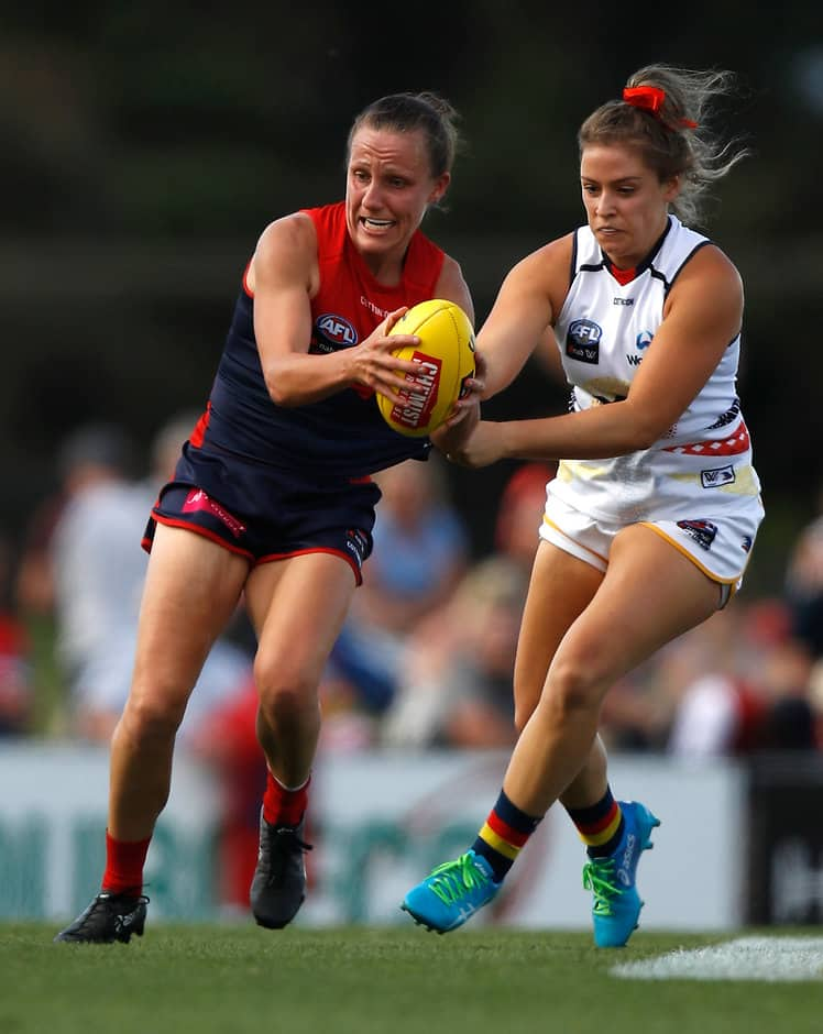 Melbourne's Karen Paxman was outstanding against Adelaide - AFLW