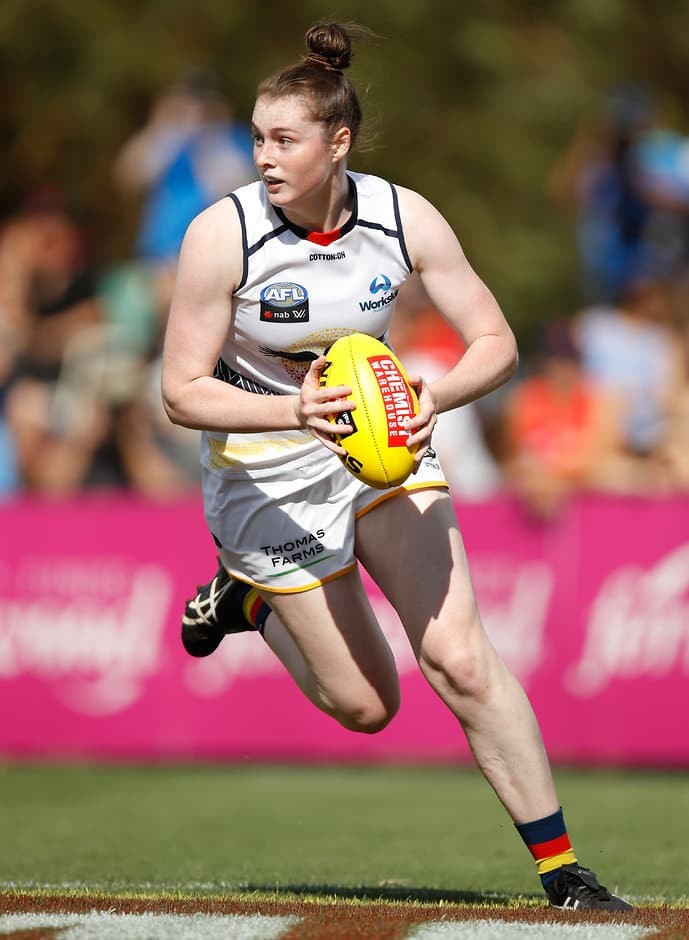 Sarah Allan has won an AFLW Rising Star nomination for round six - AFLW,Sarah Allan,Tahlia Randall,Adelaide Crows,Brisbane Lions,AFLW Rising Star