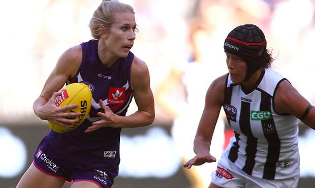 Dana Hooker dominated in Freo's winning against the Pies on Saturday afternoon at Optus Stadium.