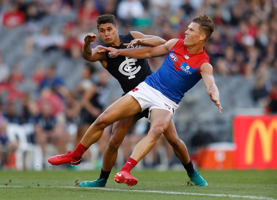 Jake Melksham was the star of Melbourne's march to AFLX victory on Friday night  - AFLX,Mark Blicavs,Bradley Hill,Jake Melksham,Shane Savage,Dane Rampe,Mitch Robinson,Jake Kelly,Shaun McKernan,Lachie Whitfield,Daniel Rich