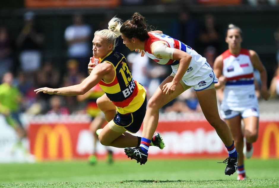 Erin Phillips has recovered from a quad injury sustained last weekend - AFLW,Adelaide Crows,Fremantle Dockers,Brisbane Lions,Collingwood Magpies,GWS Giants,Western Bulldogs,Carlton Blues,Melbourne Demons