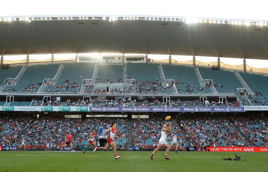 SYDNEY, AUSTRALIA - FEBRUARY 17: A general view during the AFLX match between the Gold Coast Suns and the Sydney Swans at Allianz Stadium on February 17, 2018 in Sydney, Australia. (Photo by Michael Willson/AFL Media)