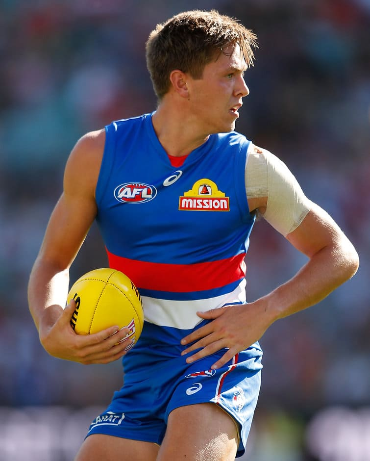 Developing forward Fergus Greene has enjoyed a sound start to the 2018 season, booting eight goals across nine VFL appearances. - Fergus Greene,Western Bulldogs