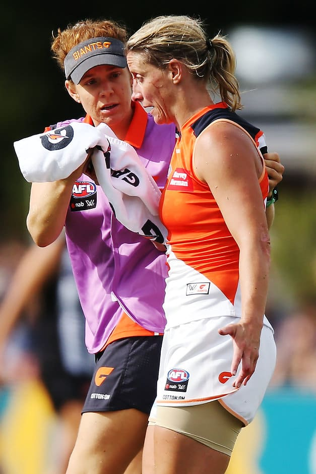 Cora Staunton has adapted well to a Sherrin, averaging seven disposals and two tackles in her debut AFLW season  - AFLW