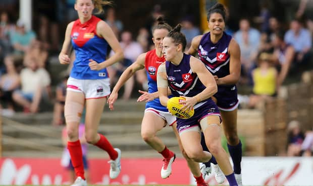Fremantle captain Kara Donnellan has been charged by the AFLW's Match Review Officer. - Fremantle,Fremantle Dockers,AFLW,Kara Donnellan,Ashlee Atkins