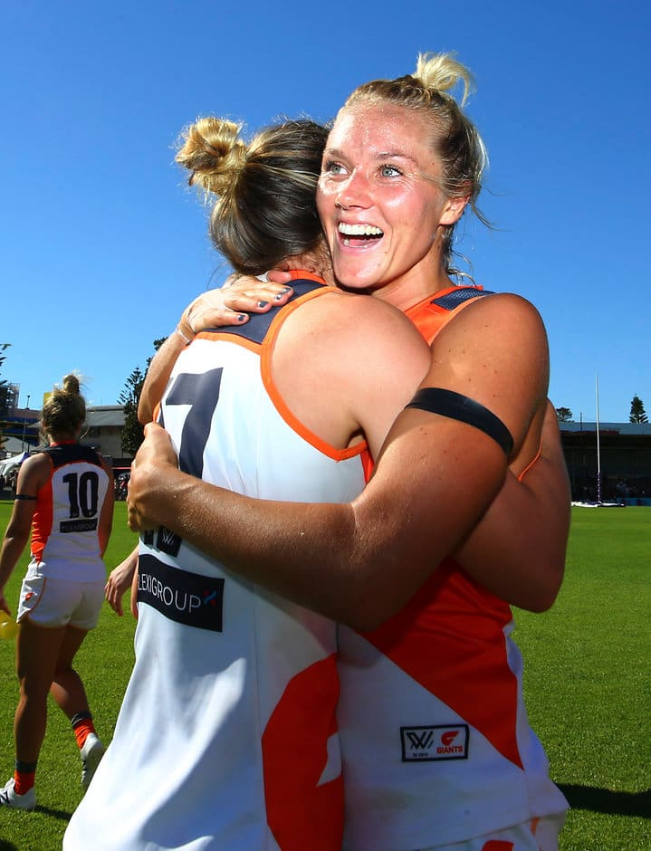 The Giants know the importance of the win - AFLW,GWS Giants,Fremantle Dockers