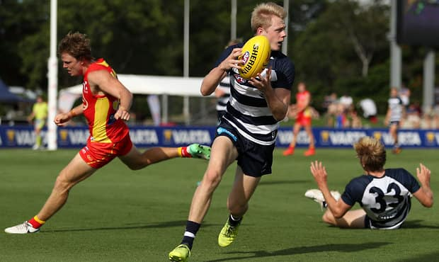 Guthrie is ready to take on AFL talls.  - Geelong Cats,Zach Guthrie