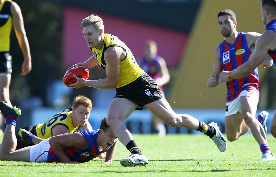 Nathan Drummond in action for Richmond's VFL team - AFL,Richmond Tigers,Nathan Drummond,Delistings,Contracts