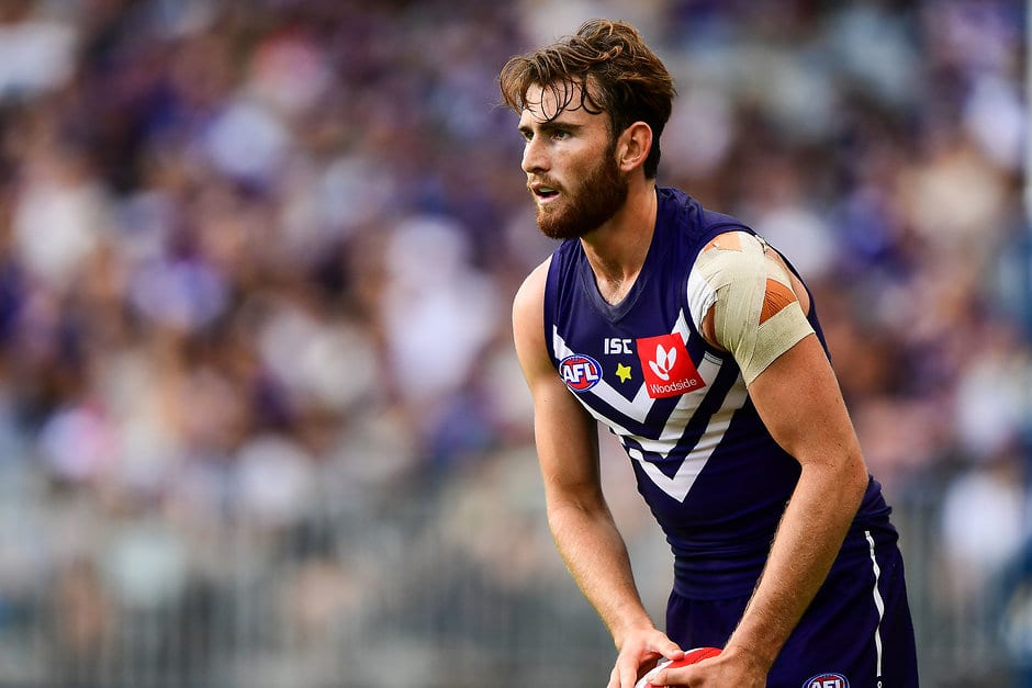 Connor Blakely has injured his right knee. - Fremantle,Fremantle Dockers,Connor Blakely