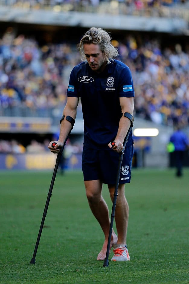 Cam Guthrie will miss up to eight weeks after having ankle surgery - AFL,Geelong Cats,Cameron Guthrie