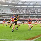 MELBOURNE, AUSTRALIA - APRIL 14:  A general view during the round four AFL match between the Richmond Tigers and the Brisbane Lions at Melbourne Cricket Ground on April 14, 2018 in Melbourne, Australia.  (Photo by Brett Hemmings/AFL Media)