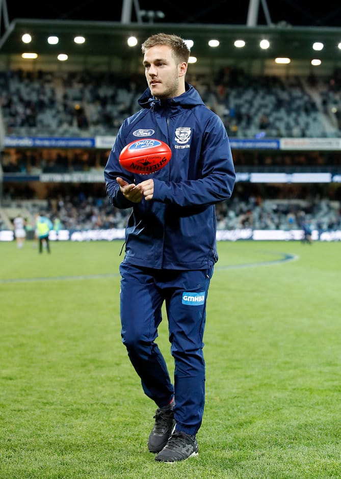 Cory Gregson leaves GMHBA Stadium on Sunday - Geelong Cats,Cory Gregson