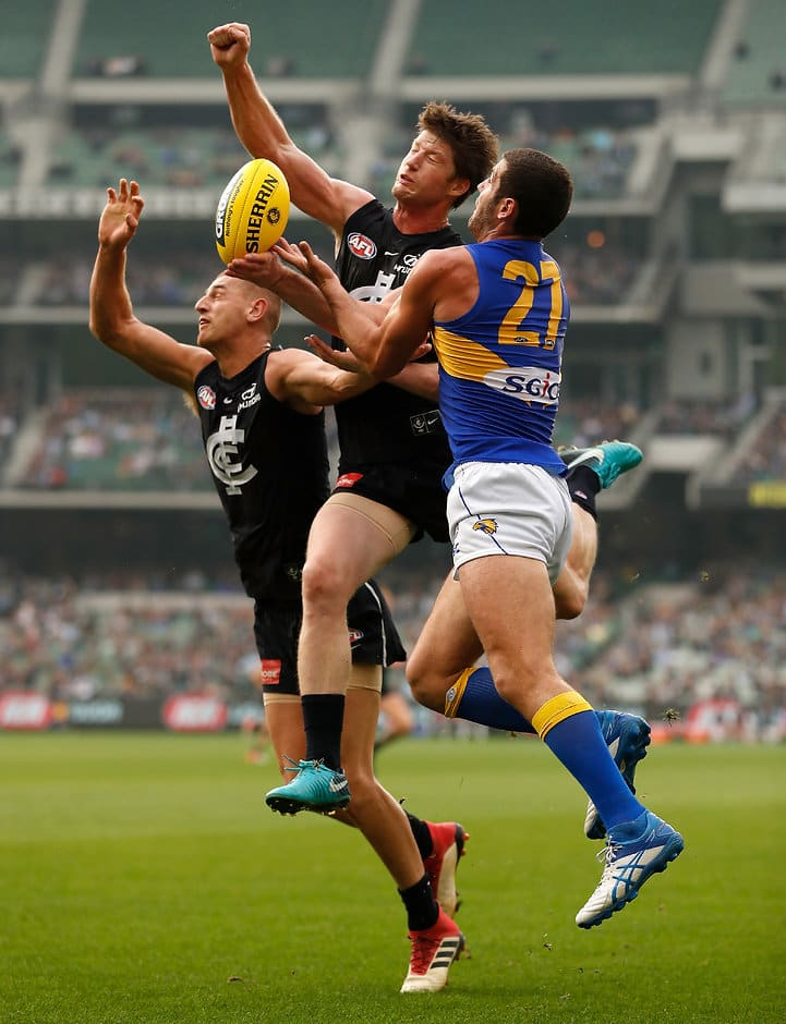 Sam Rowe made a strong return from a knee reconstruction - AFL,Sam Rowe,Carlton Blues,West Coast Eagles,Josh J Kennedy