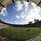 BRISBANE, AUSTRALIA - MAY 6: General view during the 2018 AFL round seven match between the Brisbane Lions and the Collingwood Magpies at the Gabba on May 6, 2018 in Brisbane, Australia. (Photo by Jason O'Brien/AFL Media)