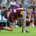 BRISBANE, AUSTRALIA - MAY 6: Dayne Beams of the Lions  during the 2018 AFL round seven match between the Brisbane Lions and the Collingwood Magpies at the Gabba on May 6, 2018 in Brisbane, Australia. (Photo by Jason O'Brien/AFL Media)