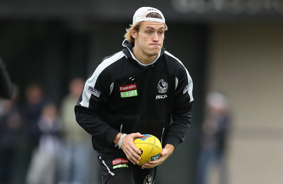 Darcy Moore will not play at any level this week - AFL,Collingwood Magpies,Injuries,Darcy Moore,Travis Varcoe,Ben Reid,Jamie Elliott,Josh Smith