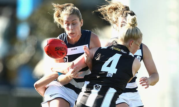 Geelong will take on Collingwood this Sunday for a spot in the 2018 VFLW Grand Final - Geelong Cats