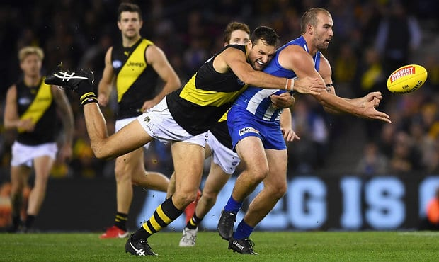 Nankervis didn't train on Wednesday morning at the Swinburne Centre at Punt Road Oval - Toby Nankervis