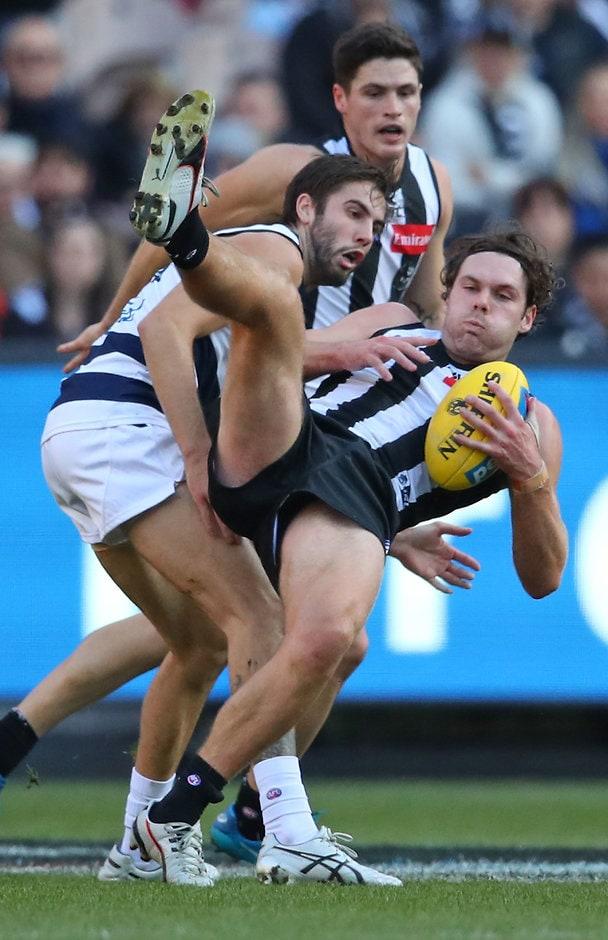 Matthew Scharenberg was a shining light for the Pies in their loss to Geelong - AFL,Collingwood Magpies,Matthew Scharenberg