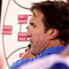 ADELAIDE, AUSTRALIA - MAY 18: Luke Beveridge, Senior Coach of the Bulldogs during the 2018 AFL round nine match between the Adelaide Crows and the Western Bulldogs at the Adelaide Oval on May 18, 2018 in Adelaide, Australia. (Photo by James Elsby/AFL Media)