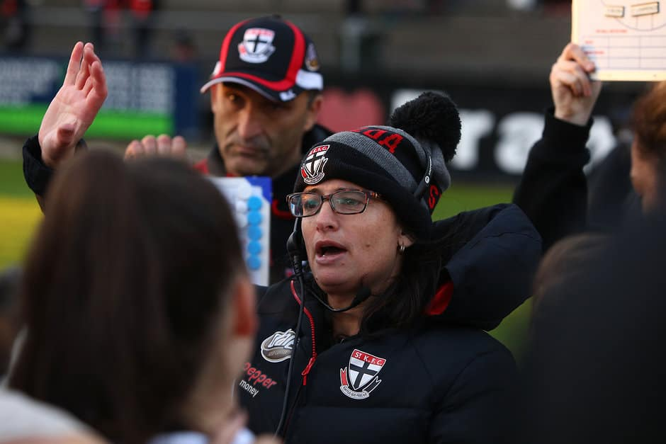 Coach Peta Searle has been awarded a Medal of the Order of Australia. - St Kilda Saints