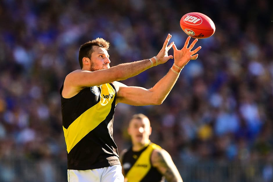 Toby Nankervis has been a revelation in the ruck for Richmond this season - Richmond Tigers,Toby Nankervis