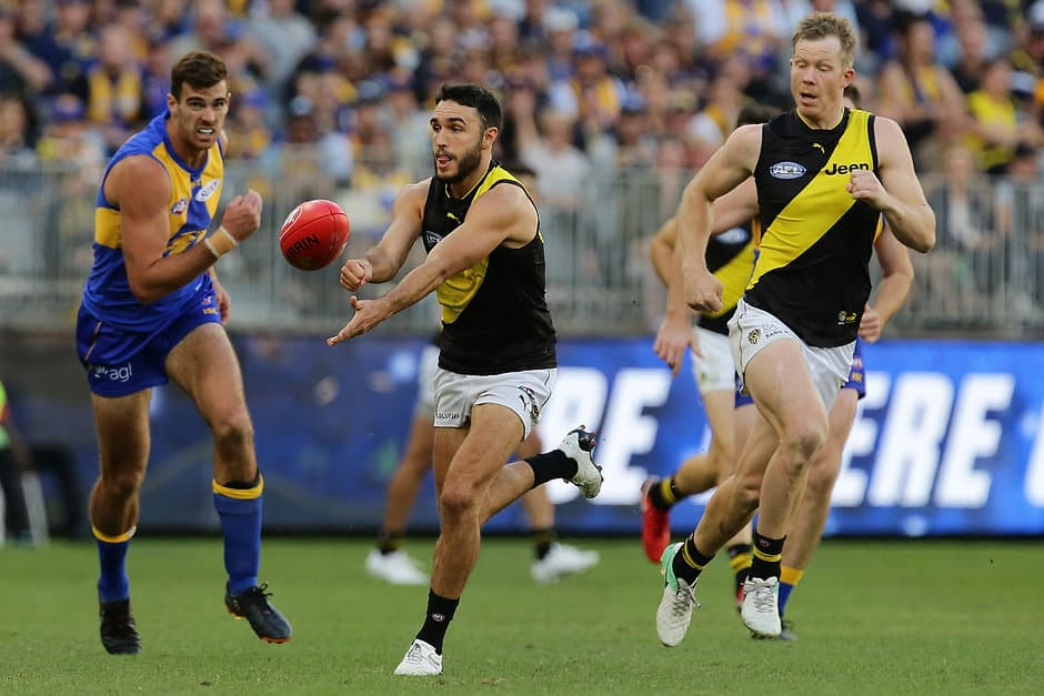 Richmond's attacking use of handball is a key part of its game plan - AFL,Richmond Tigers