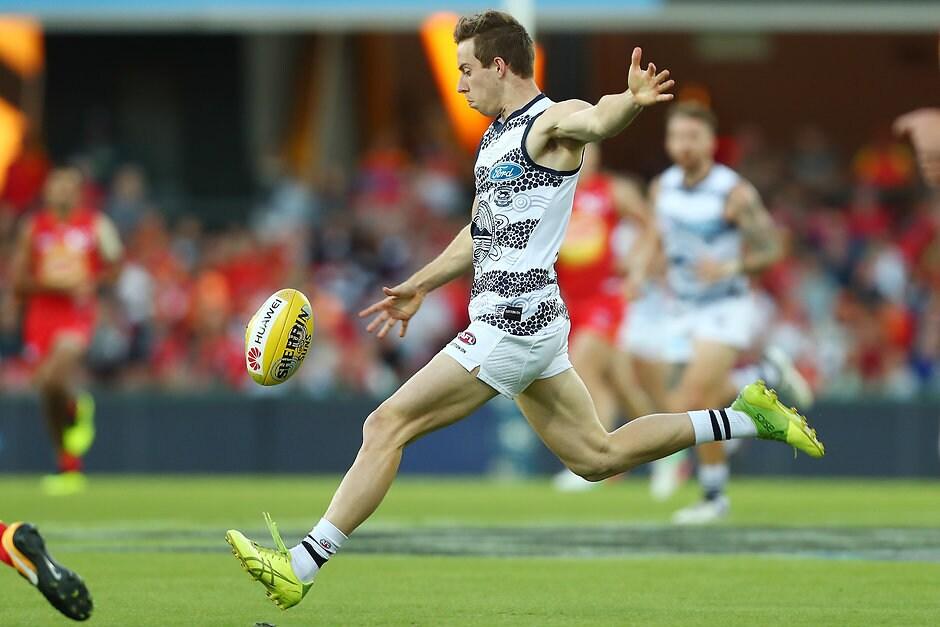 Jordan Cunico is finding his feet at AFL level.  - Geelong Cats,Jordan Cunico