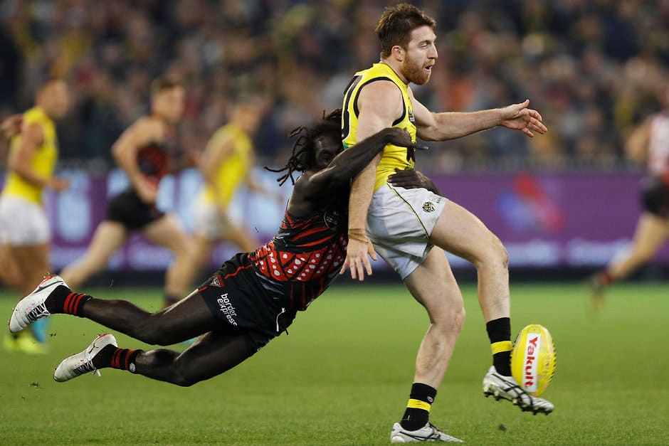 Gotcha: Anthony McDonald-Tipungwuti leads the League in rundown tackles in 2018 - AFL,Adelaide Crows,Brisbane Lions,Carlton Blues,Collingwood Magpies,Essendon Bombers,Fremantle Dockers,Geelong Cats,Gold Coast Suns,GWS Giants,Hawthorn Hawks,Melbourne Demons,North Melbourne Kangaroos,Port Adelaide Power,Richmond Tigers,St Kilda Saints,Sydney Swans,West Coast Eagles,Western Bulldogs