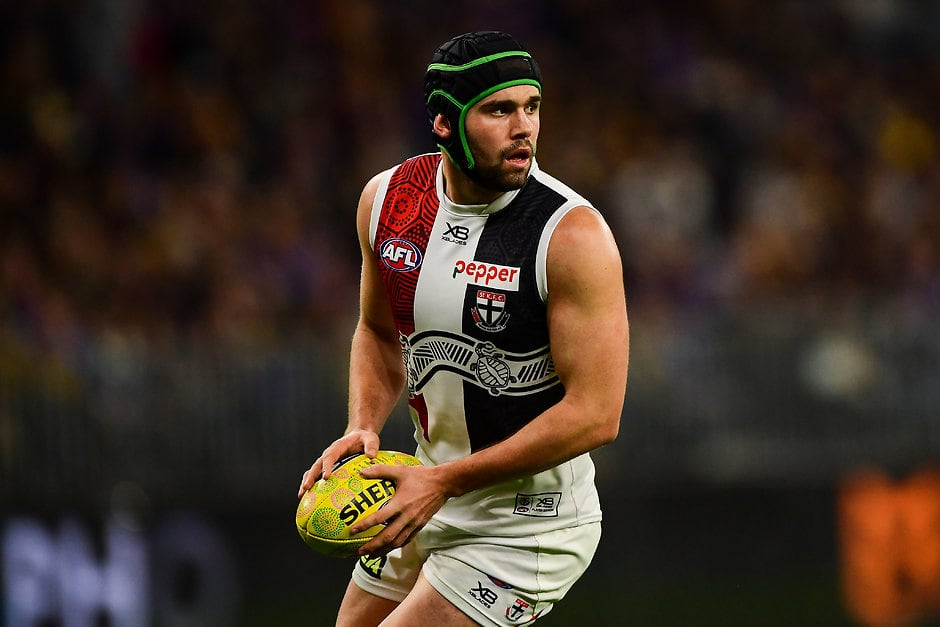 Paddy and Tom McCartin find themselves on opposite sides of the ledger for the first time tonight. - St Kilda Saints,Sydney Swans,Paddy McCartin,Tom McCartin
