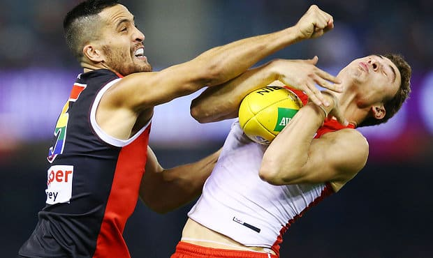 Shane Savage has been fined for his scuffle with Sydney forward Will Hayward in the third quarter. - St Kilda Saints,Jack Steele,Shane Savage,Tribunal