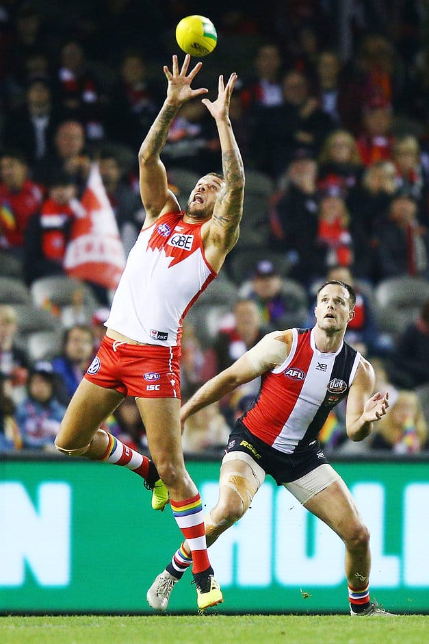On a night celebrating pride, pride was all St Kilda had to play for after quarter-time at Etihad Stadium on Saturday night. - St Kilda Saints,Sydney Swans