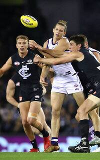 Nat Fyfe was at his best against the hapless Blues