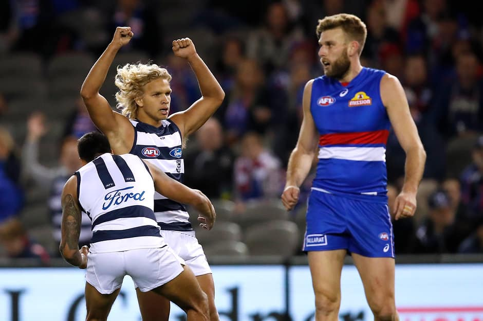 Narkle sparkled on debut.  - Geelong Cats,Quinton Narkle