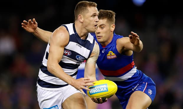 Joel Selwood's 2018 season is right up there statistically with some of the best years of his career.  - Geelong Cats