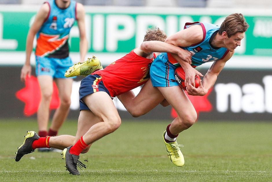 New Hawk Jacob Koschitzke has impressed in his 2018 under-18 season - AFL,Draft,Hawthorn Hawks