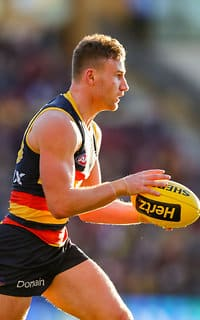 ADELAIDE, AUSTRALIA - JUNE 30: Rory Laird of the Crows during the 2018 AFL round15 match between the Adelaide Crows and the West Coast Eagles at the Adelaide Oval on June 30, 2018 in Adelaide, Australia. (Photo by AFL Media)