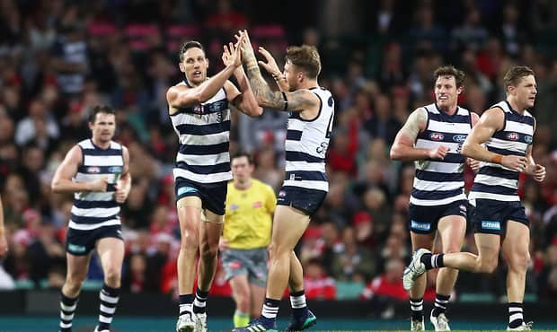 Harry Taylor will have to prove his fitness to play Thursday night. - Geelong Cats